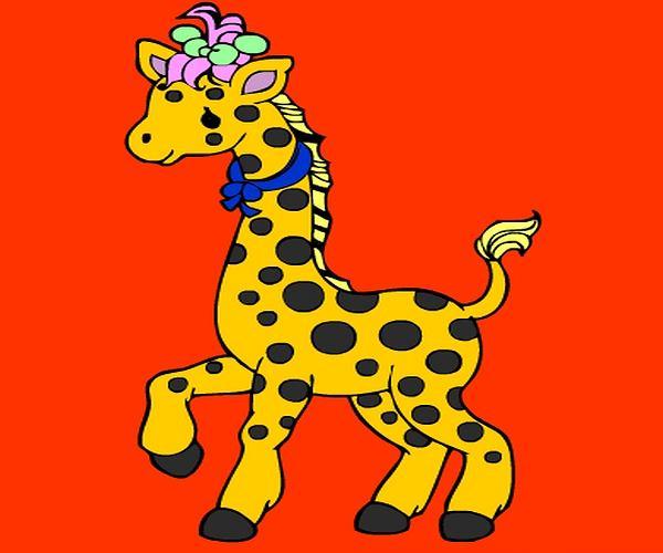 Kolorowanka: żyrafa