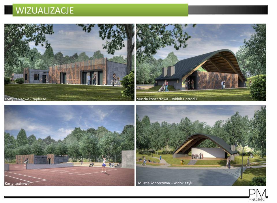 Wizualizacje przyszłego parku miejskiego w Tarnowskich Górach
