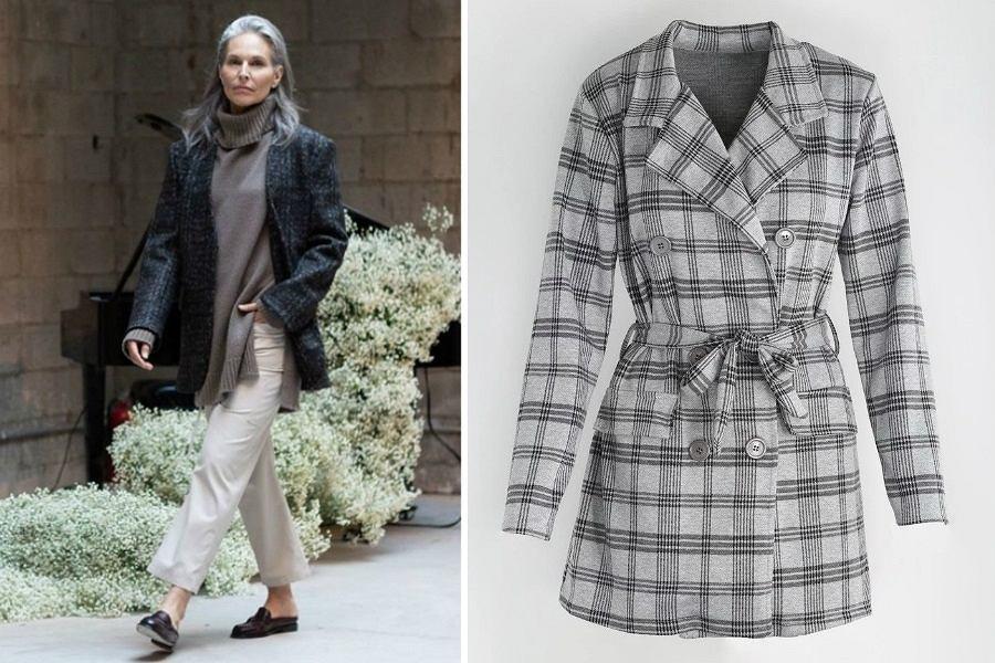 Krótki płaszcz dla dojrzałych kobiet