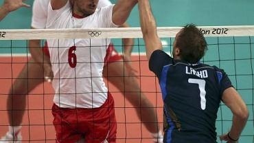 Michał Łasko w meczu Włochy - Polska 1:3