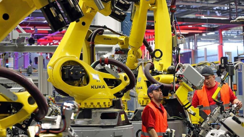 Roboty w fabryce Volkswagena