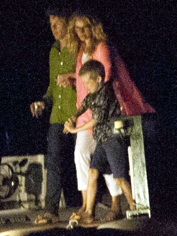 Julia Roberts z mężem i synem