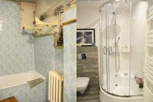 Metamorfoza małej łazienki z lat 70.