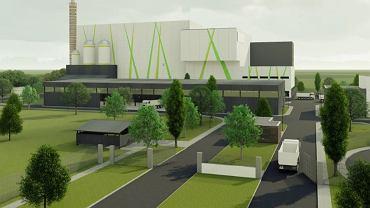 Ekociepłownia, która ma powstać przy ul. Lubelskiej w Olsztynie - wizualizacja obiektu