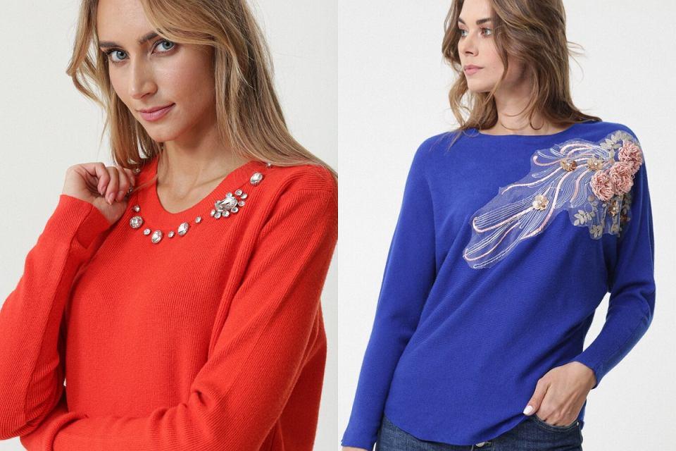 Swetry z ozdobami