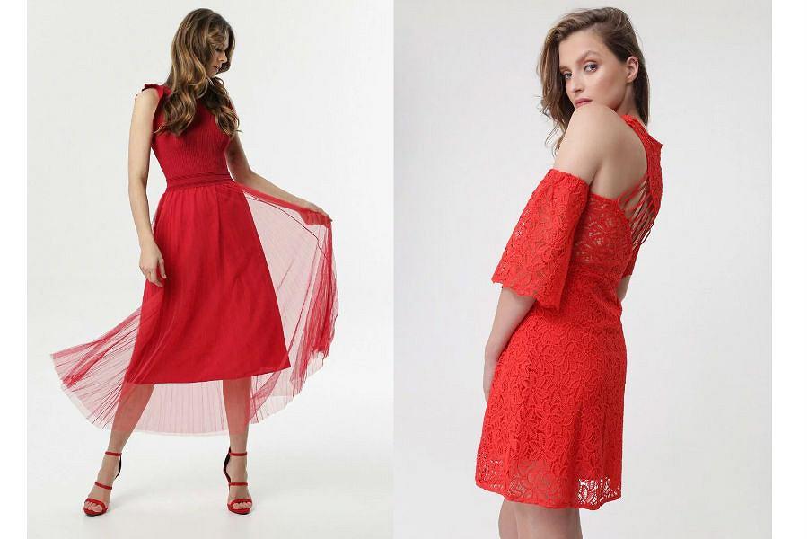 sukienka na wesele czerwona
