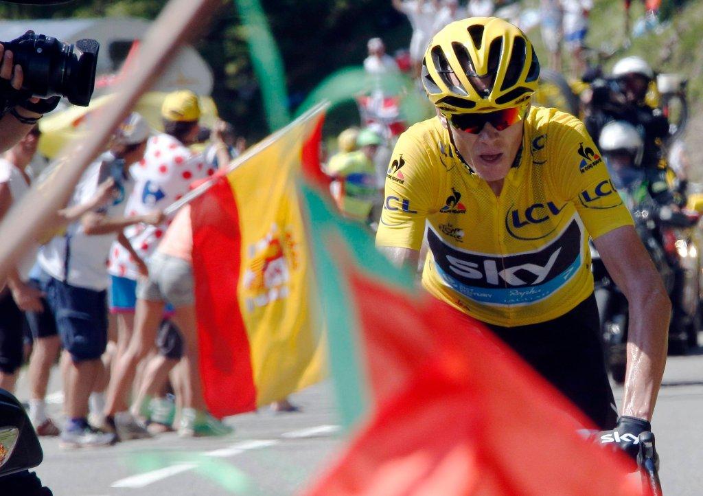 Lider wyścigu Tour de France - Chris Froome