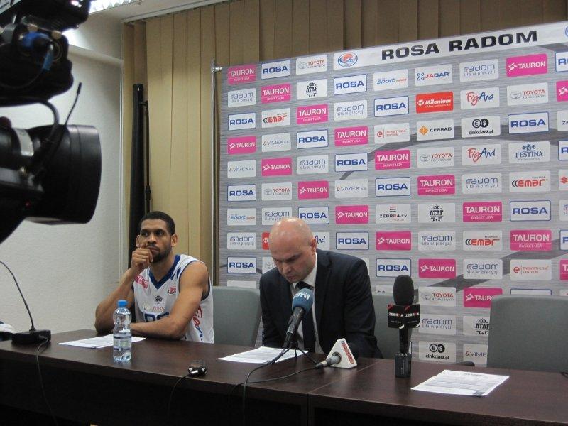 Konferencja prasowa po meczu Rosa vs Polfarmex
