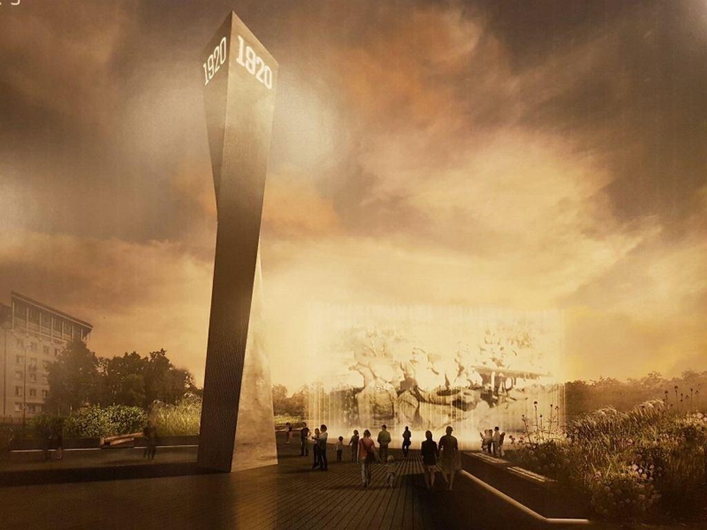 Zwycięski projekt na konkurs pomnika upamiętniającego Bitwę Warszawską 1920