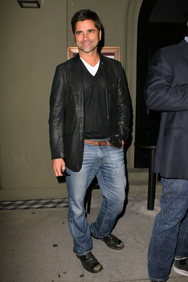 WEST HOLLYWOOD, CA - MAY 03: Actor John Stamos has dinner at Craig's on May 03, 2012 in West Hollywood, California. John was dining with friends and posed for cameras as he and his friends left the restaurant. PHOTOGRAPH BY AKM-GSI / Barcroft Media UK Office, London. T +44 845 370 2233 W www.barcroftmedia.com USA Office, New York City. T +1 212 796 2458 W www.barcroftusa.com Indian Office, Delhi. T +91 11 4053 2429 W www.barcroftindia.com