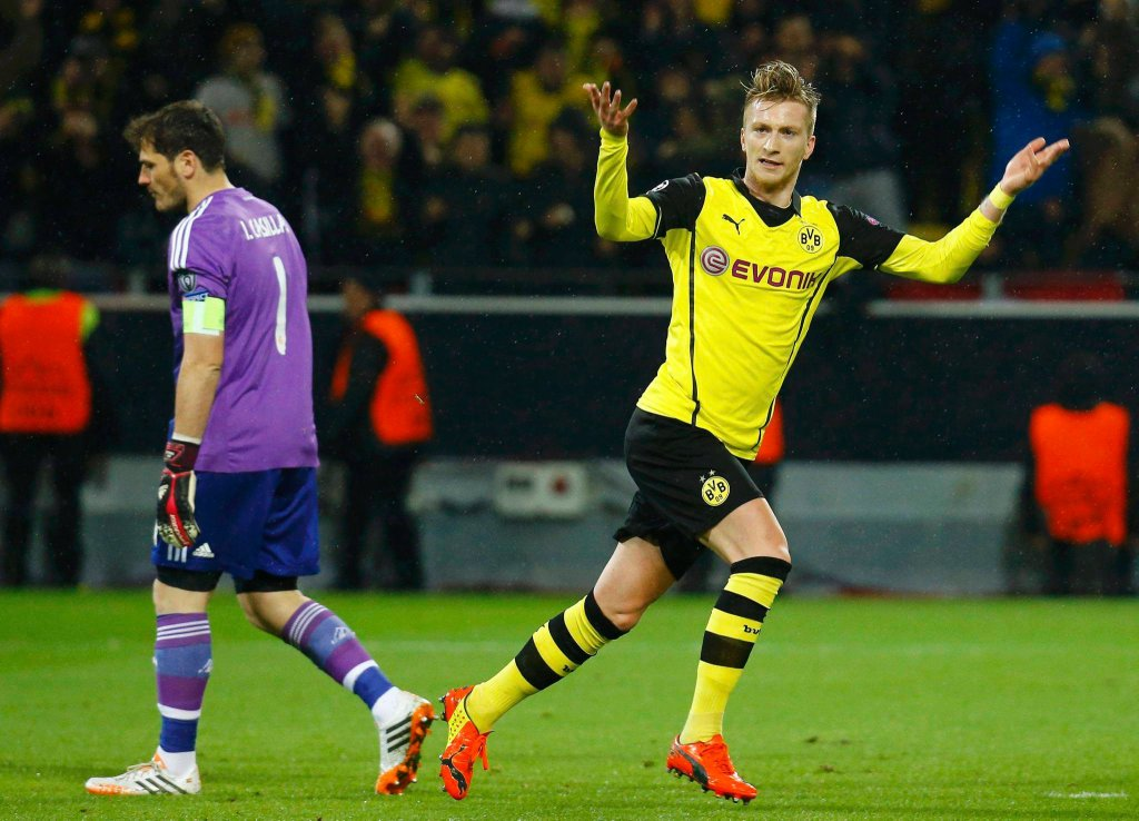 Marco Reus w meczu Borussia - Real