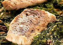 Sandacz na szpinaku z gorgonzolą - ugotuj