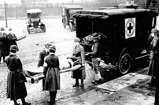 Transport chorych w amerykańskim mieście St. Louis