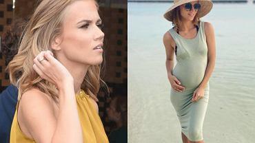 Agnieszka Kaczorowska chwali się ciążą. Fani: Nie musisz tak podtrzymywać brzucha. Nie odpadnie. Zareagowała
