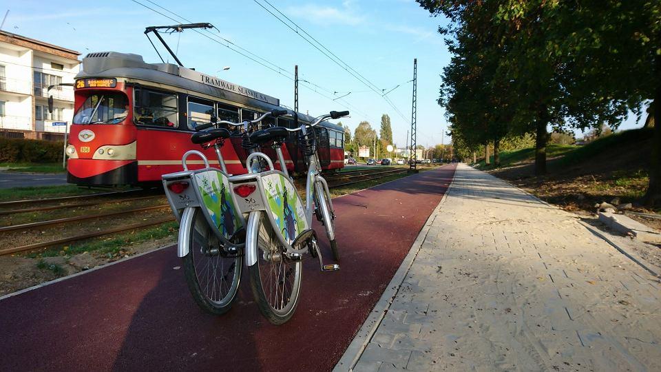 Droga rowerowa wzdłuż ul. Andersa w Sosnowcu