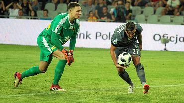 Matthias Hamrol i Carlitos podczas meczu Korona Kielce - Legia Warszawa