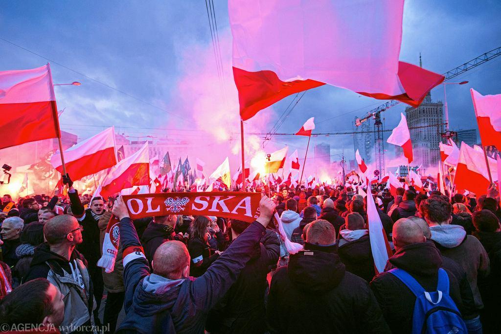 Marsz Niepodległości w Warszawie, 11 listopada 2017 r.