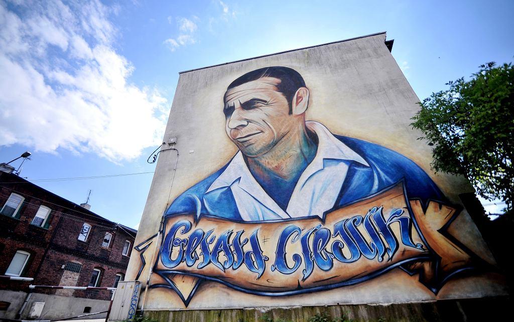 Mural Gerarda Cieślika w Chorzowie