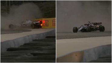Kimi Raikkonen rozbił przednie skrzydło bolidu Alfy Romeo na pierwszym treningu przed GP Bahrajnu