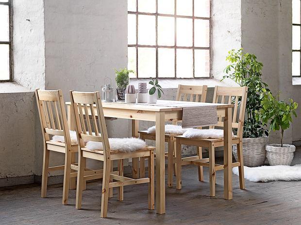 Stół z krzesłami - drewniany zestaw idealny