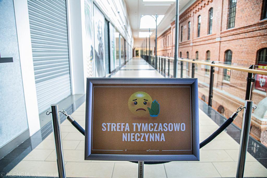 Lockdown w galerii handlowej w Białymstoku.