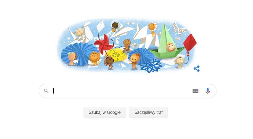 Google Doodle z okazji dnia dziecka