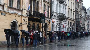 Szczepienia na Rynku Glownym w Krakowie