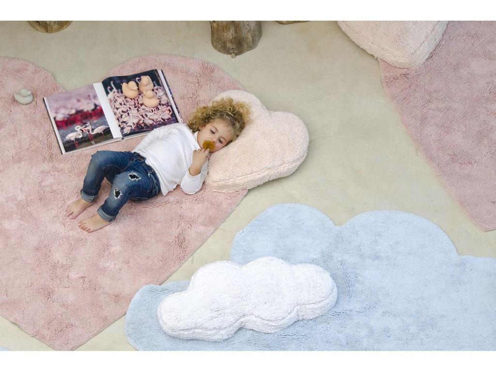 Mięciutki dywan dla dzieci w pastelowych kolorach