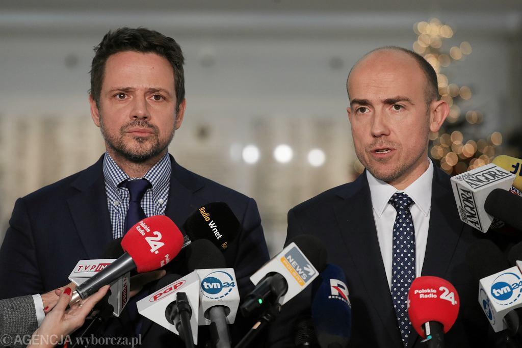 Rafał Trzaskowski i Borys Budka w Sejmie, 19.12.2019