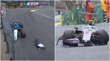 Nicolas Latifi i Mick Schumacher rozbili swoje bolidy podczas trzeciego treningu przed kwalifikacjami GP Monako