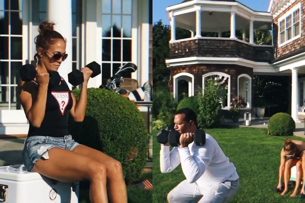 Jennifer Lopez i Alex Rodriguez - trening