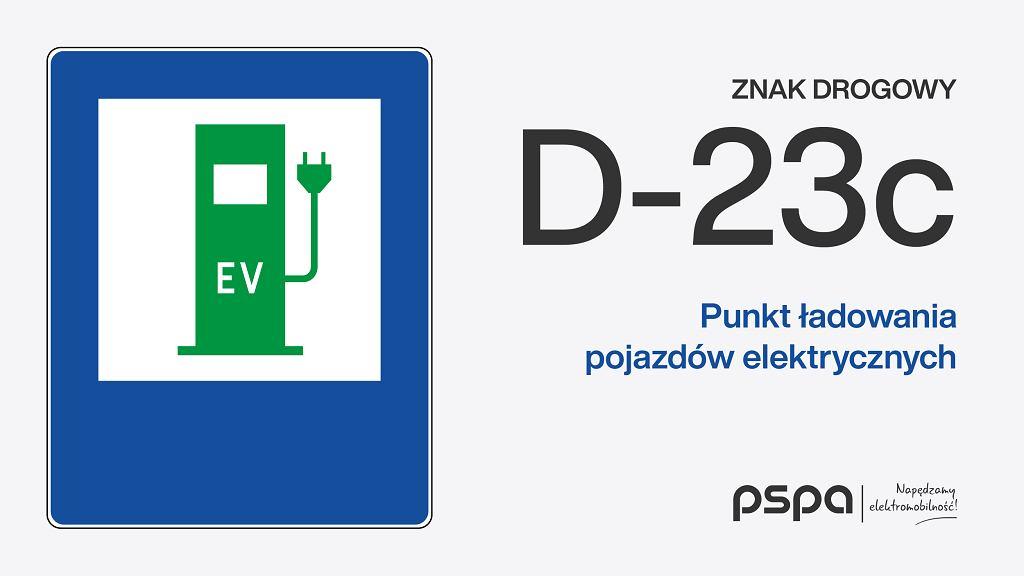 Znaki D-23c i D-23b