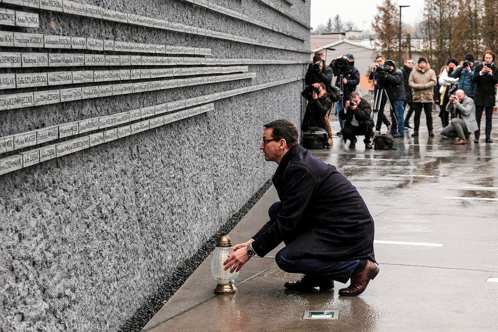 Premier Mateusz Morawiecki z wizytą w Markowej, Muzeum Polaków Ratujących Żydów podczas II wojny światowej im. Rodziny Ulmów, 2 lutego 2018.