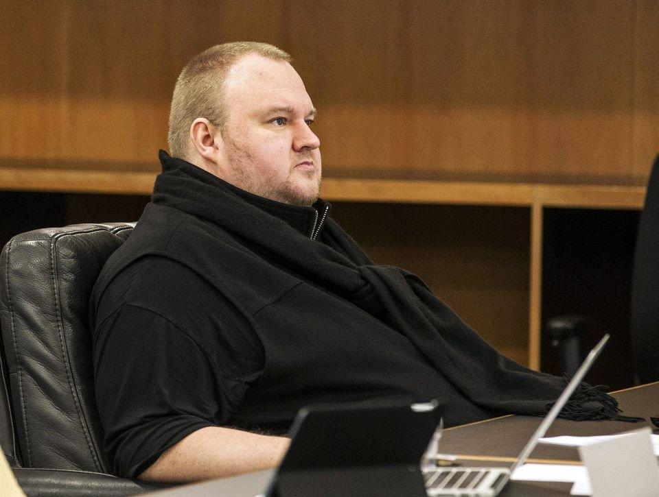 Kim Dotcom w sądzie w Auckland