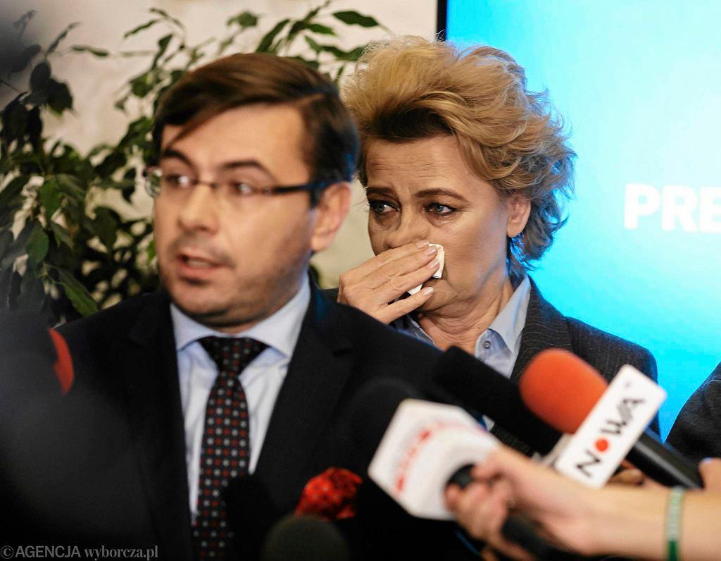 Prezydent Łodzi Hanna Zdanowska na konferencji ws. prokuratorskich zarzutów
