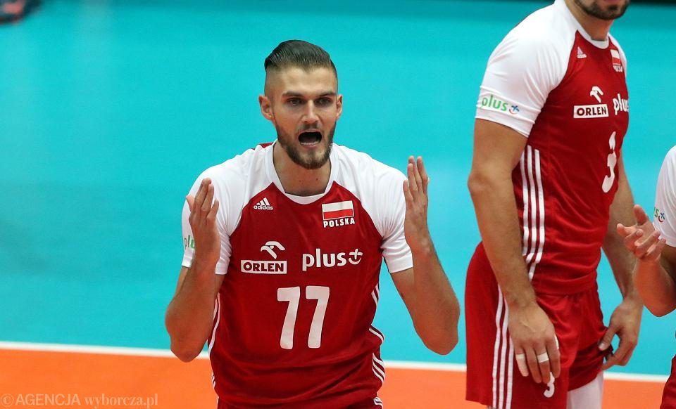 Mistrzostwa Europy siatkarzy. Karol Kłos w meczu z Estonią