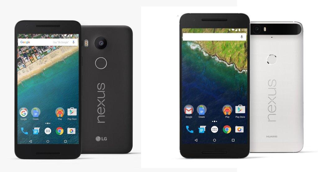 LG Nexus 5X i Huawei Nexus 6P - wyposażone w system Android 6.0 Marshmallow. Trafią do nas za kilka tygodni.