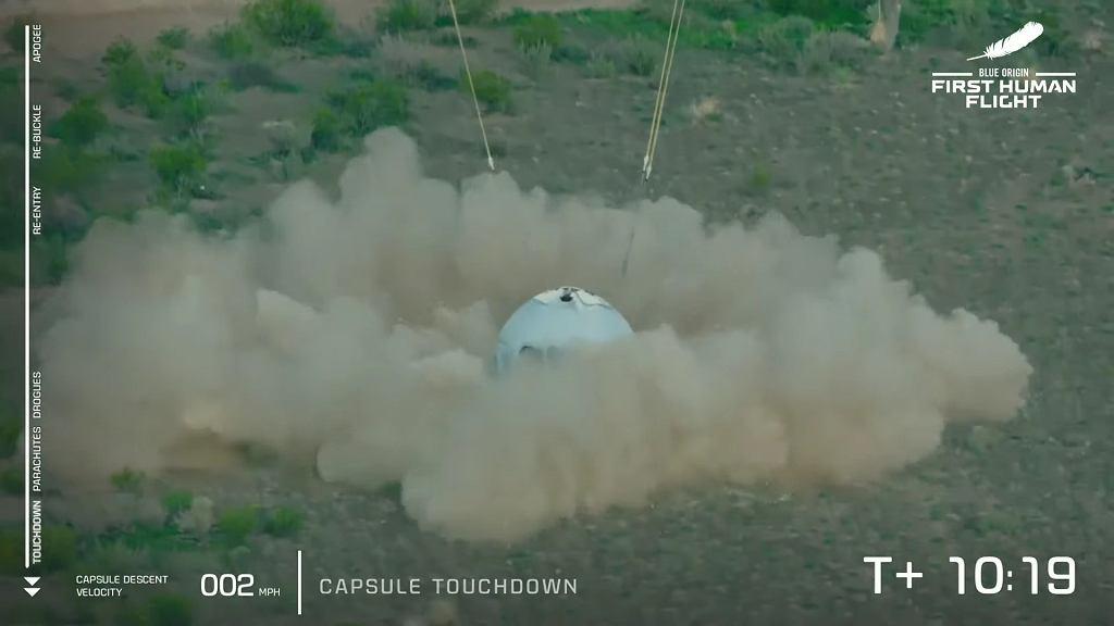 Pierwszy załogowy lot Blue Origin w kosmos