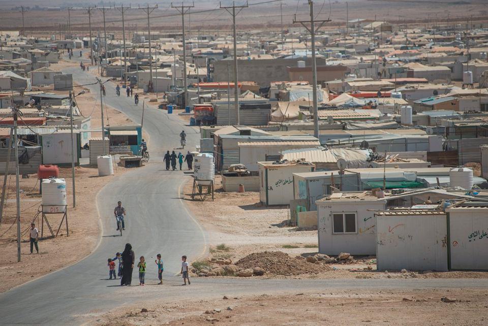 Zataari, największy obóz dla uchodźców na Bliskim Wschodzie.