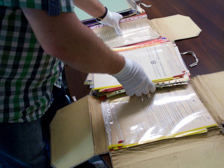 Zabezpieczone dokumenty z okresu II wojny światowej