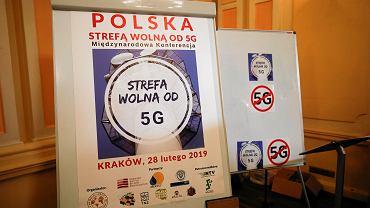 Plakat przeciwników sieci 5G
