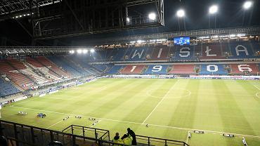 Stadion Miejski im. Henryka Reymana użytkowany przez klub Wisła Kraków. Kraków, ul. Reymonta, 21 grudnia 2018