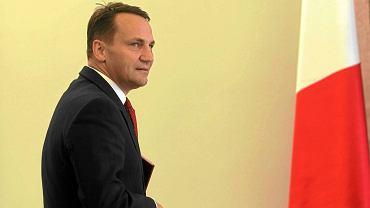 Radosław Sikorski, szef MSZ