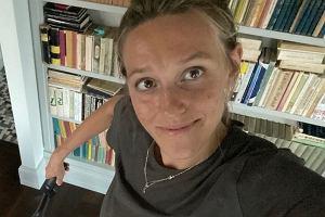 """Aleksandra Żebrowska o uspokajaniu dzieci. Fragment zdjęcia rozbawił fanów. """"Prawie dałam się nabrać"""""""
