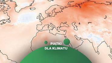 Mapa anomalii temperatury na świecie z ostatnich 12 miesięcy