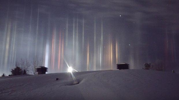 Świetlne filary, Kanada