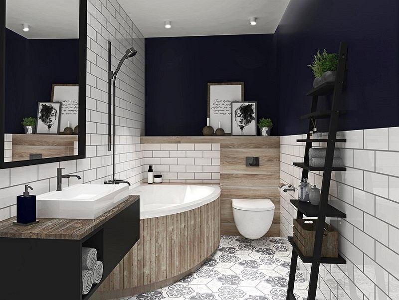 Wanna narożna doskonale sprawdzi się w małej łazience