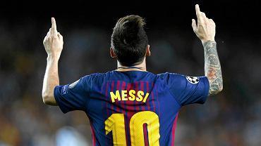 Leo Messi w meczu FC Barcelona - Juventus. Camp Nou, Barcelona, 12 września 2017