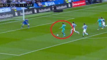 Gol Antoine'a Griezmanna w meczu Real Sociedad - Barcelona