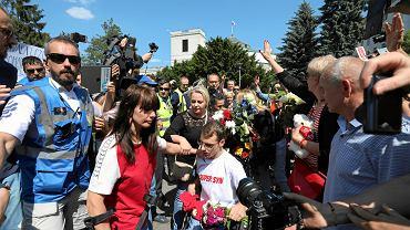 27.05.2018, Warszawa, zakończenie 40 dniowego protestu rodziców osób niepełnosprawnych w Sejmie.
